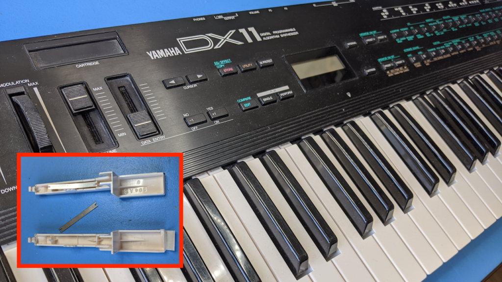 Yamaha DX11 – Repairing Broken Key