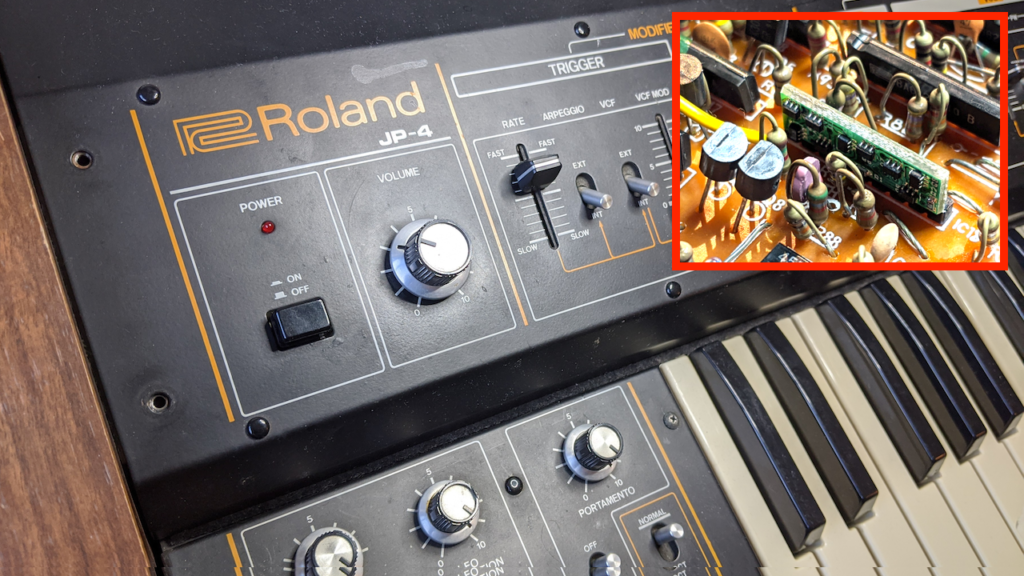 Roland Jupiter-4 (JP-4) – Replacing BA662 in Filter