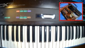 Yamaha DX7 – Damaged Power Cable Replacement