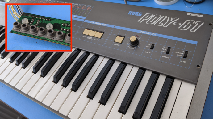 Korg Poly-61 – Fixing Non Working Keys