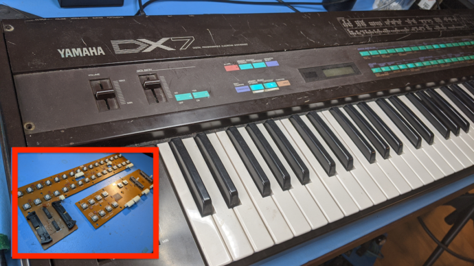 Yamaha DX7 – Replacing All Buttons